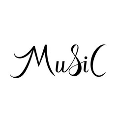 music lettring text vector image
