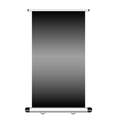 roll up with dark background vector image