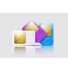 Sim cards for mobile phones mobile and wireless vector