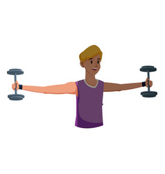 sport boy barbell gym fitness design graphic vector image vector image