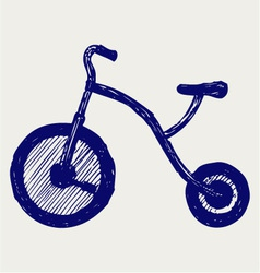 Tricycle child vector image vector image
