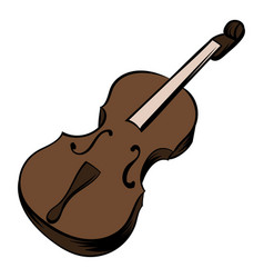 violin icon cartoon vector image