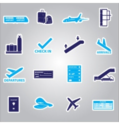 airport stickers set eps10 vector image vector image