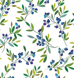 Blueberry seamless graphic pattern vector image