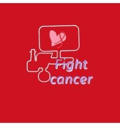 Breast cancer awareness month banner logo for vector