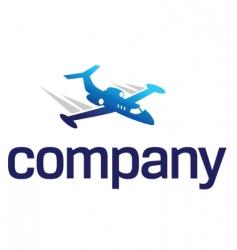 business jet logo vector image vector image