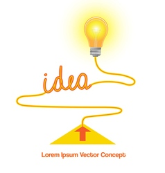 Conceptual icon light bulb idea vector image