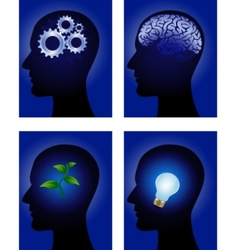 human mind vector image vector image