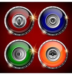 Locks collection vector image vector image