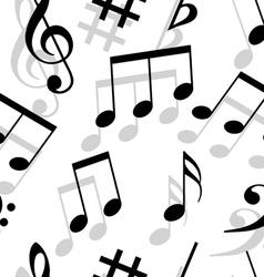 music notes seamless wallpaper vector image