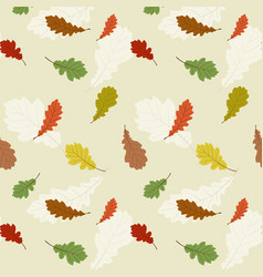 seamless pattern with the oak leaves vector image