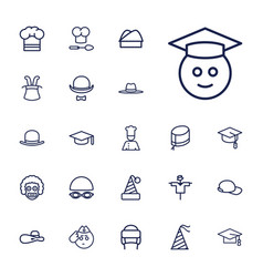 22 hat icons vector