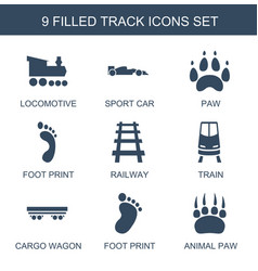 9 track icons vector