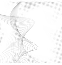 Abstract halftone dotted transparent wave vector