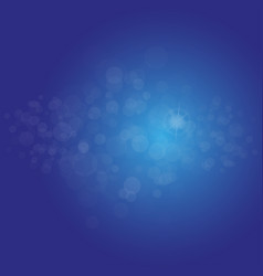 abstract light blue bokeh background magic vector image