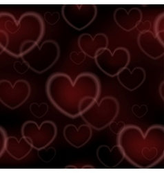 Abstract seamless with glowing hearts vector image