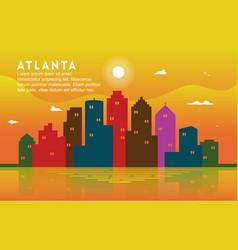 Atlanta georgia city building cityscape skyline vector
