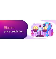 Bitcoin price prediction concept banner header vector