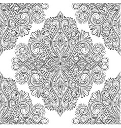 black and white vintage seamless pattern vector image