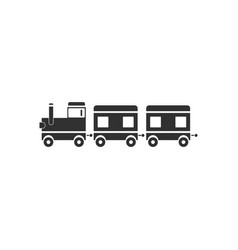 Black icon on white background babies train vector