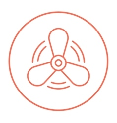 Boat propeller line icon vector