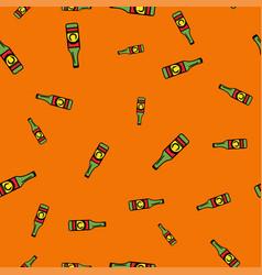 Bottle beer pattern seamless color vector