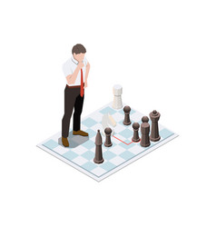 Business chess skill composition vector