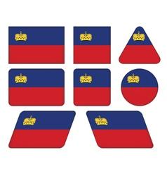 buttons with flag of Liechtenstein vector image