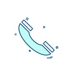 call icon design vector image