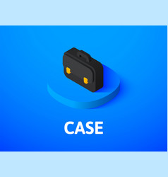 case isometric icon isolated on color background vector image
