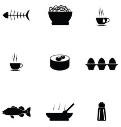 chinese food icon set vector image