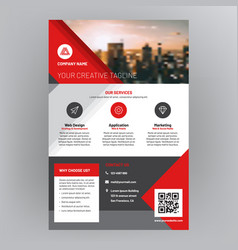 Company brochure corporate flyer cover design vector
