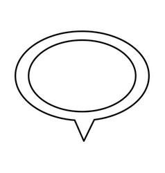 Contour chat oval bubble icon vector
