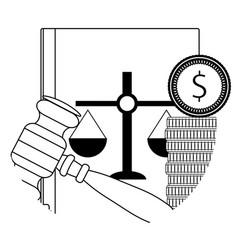 Corruption law judicial vector