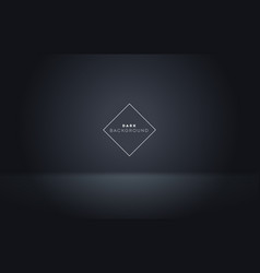 Dark showcase spotlight on black background vector