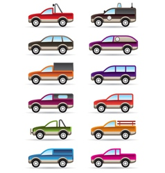 Different off road and SUV cars vector