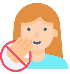Do not touch your face flat style icon vector