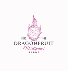 dragon fruit farms abstract sign symbol or vector image