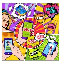 E-commerce Comics Page vector image
