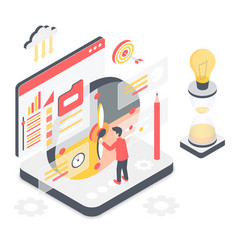 Effective time management isometric vector