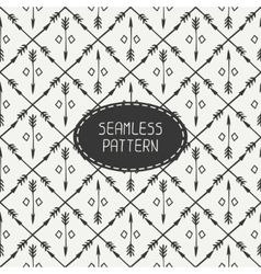 Ethnic seamless pattern with arrows Hand drawn vector image