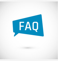 Faq icon frequently asked question as speech vector