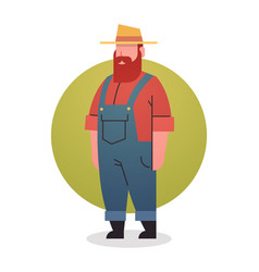 Farmer man icon agriculture worker professional vector