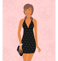 fashion glamor girl vector image