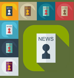 Flat modern design with shadow icons journalist vector