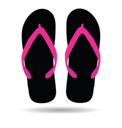 flip flop in black color vector image