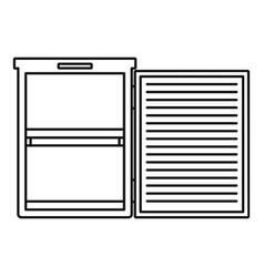 Fridge icon outline style vector