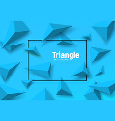 Geometric background blue triangles vector
