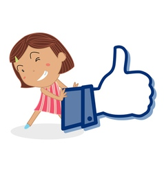 Girl and thumb vector image
