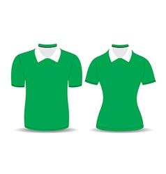 green polo shirt outline vector image